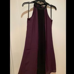 NWOT H&M purple & black S/L dress size 4